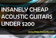 best cheap acoustic guitars under $200
