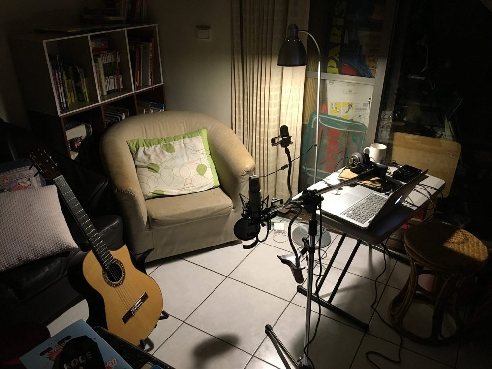 bedroom recording studio