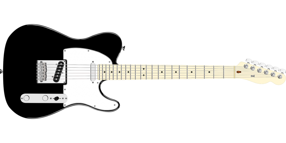 solid body electric guitar