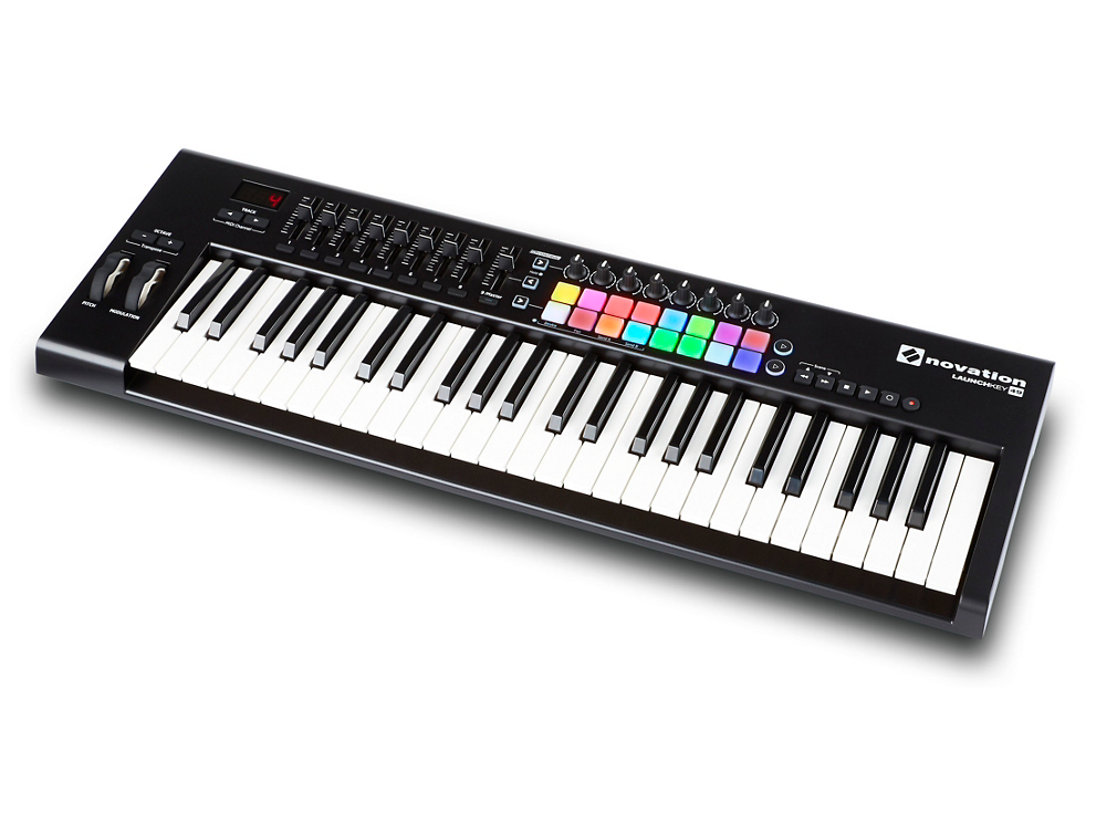 Novation Launchkey midi keyboard side