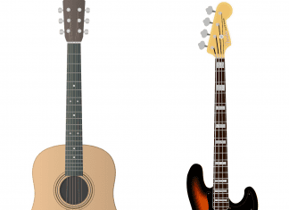 acoustic vs bass guitar